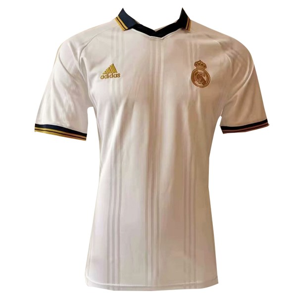 Polo Foot Pas Cher Real Madrid 2019/2020 Blanc Jaune