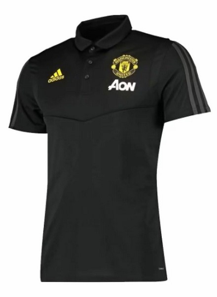 Polo Foot Pas Cher Manchester United 2019/2020 Negro Jaune