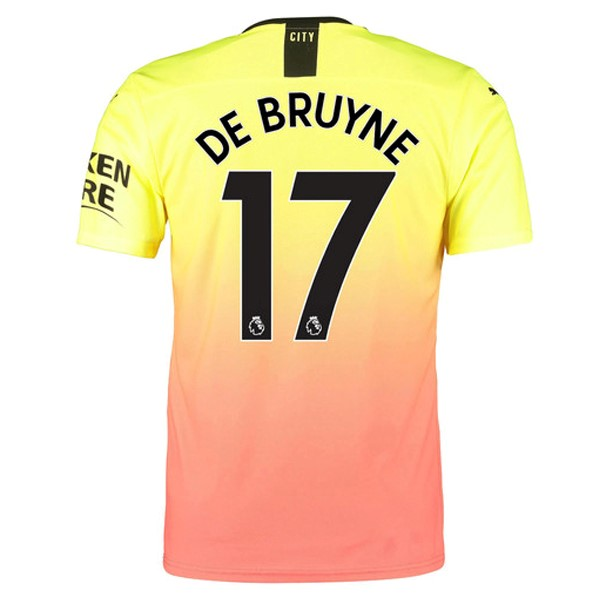 Maillot Foot Pas Cher Manchester City NO.17 De Bruyne Third 2019/2020 Orange