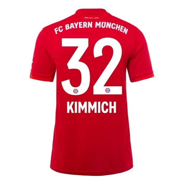 Maillot Foot Pas Cher Bayern Munich NO.32 Kimmich Domicile 2019/2020 Rouge