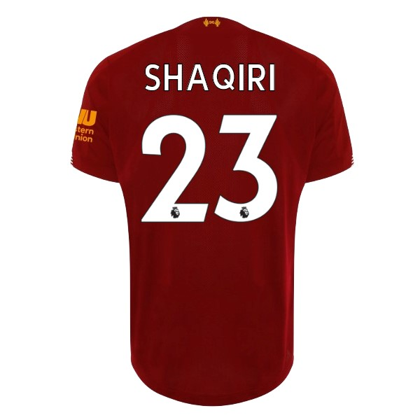 Maillot Foot Pas Cher Liverpool NO.23 Shaqiri Domicile 2019/2020 Rouge