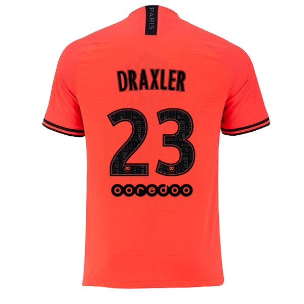 JORDAN Maillot Foot Pas Cher Paris Saint Germain NO.23 Draxler Exterieur 2019/2020 Orange
