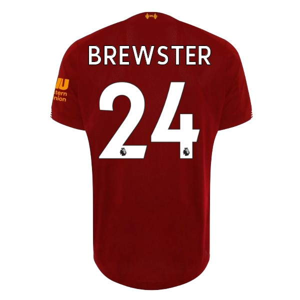 Maillot Foot Pas Cher Liverpool NO.24 Brewster Domicile 2019/2020 Rouge