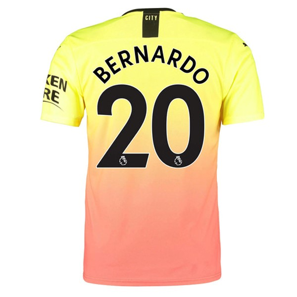 Maillot Foot Pas Cher Manchester City NO.20 Bernardo Third 2019/2020 Orange