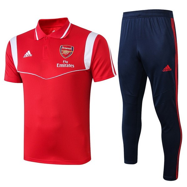 Polo Arsenal Ensemble Complet 2019/2020 Rouge Blanc