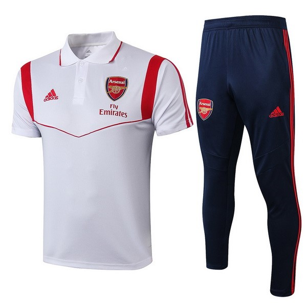 Polo Arsenal Ensemble Complet 2019/2020 Blanc Rouge