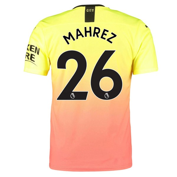 Maillot Foot Pas Cher Manchester City NO.26 Mahrez Third 2019/2020 Orange