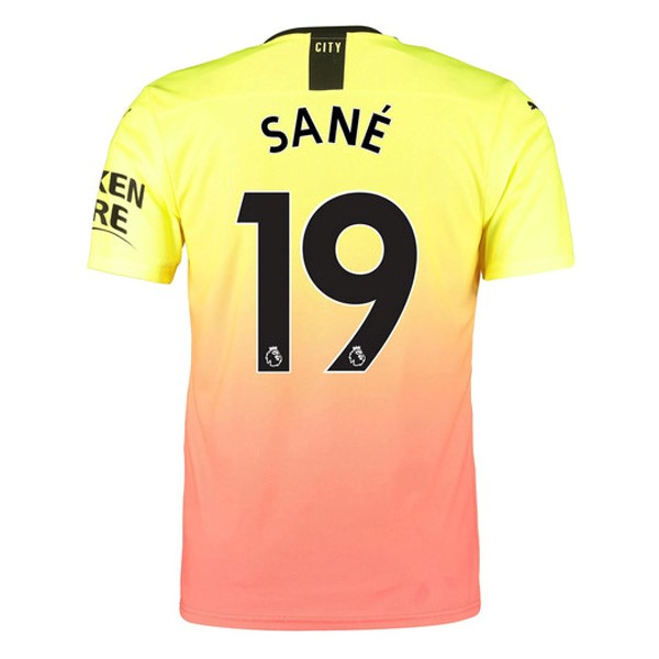 Maillot Foot Pas Cher Manchester City NO.19 Sane Third 2019/2020 Orange