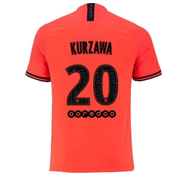 JORDAN Maillot Foot Pas Cher Paris Saint Germain NO.20 Kurzawa Exterieur 2019/2020 Orange
