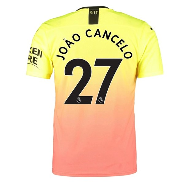 Maillot Foot Pas Cher Manchester City NO.27 Cancelo Third 2019/2020 Orange