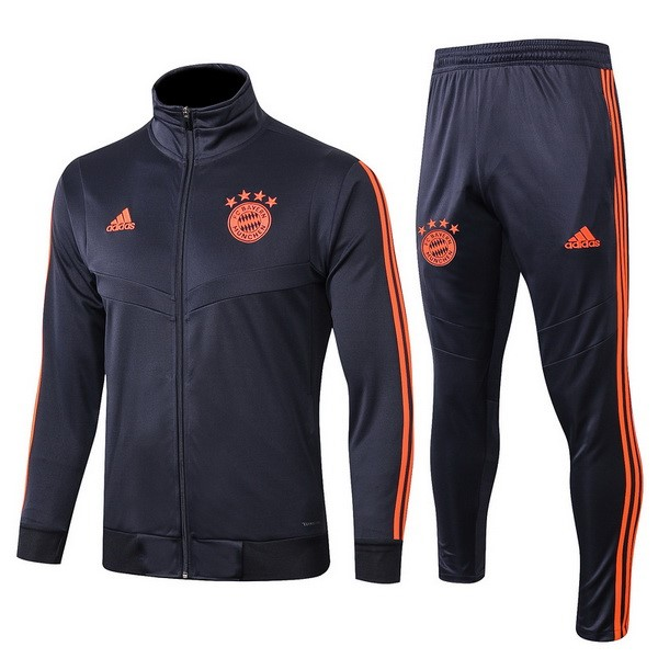 Survetement Foot Pas Cher Bayern Munich 2019/2020 Bleu Marine Orange