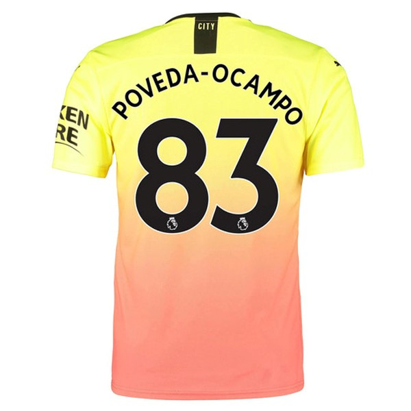 Maillot Foot Pas Cher Manchester City NO.83 Poveda Ocampo Third 2019/2020 Orange