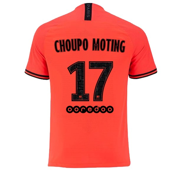 JORDAN Maillot Foot Pas Cher Paris Saint Germain NO.17 Choupo Moting Exterieur 2019/2020 Orange