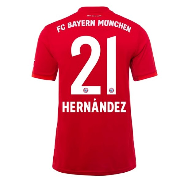 Maillot Foot Pas Cher Bayern Munich NO.21 Hernández Domicile 2019/2020 Rouge