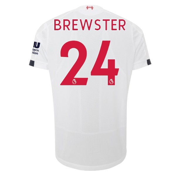 Maillot Foot Pas Cher Liverpool NO.24 Brewster Exterieur 2019/2020 Blanc