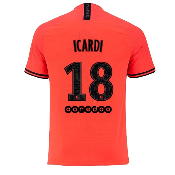 JORDAN Maillot Foot Pas Cher Paris Saint Germain NO.18 Icardi Exterieur 2019/2020 Orange