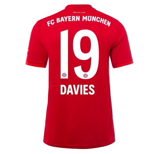 Maillot Foot Pas Cher Bayern Munich NO.19 Davies Domicile 2019/2020 Rouge