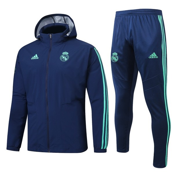 Coupe Vent Ensemble Complet Real Madrid 2019/2020 Bleu Vert