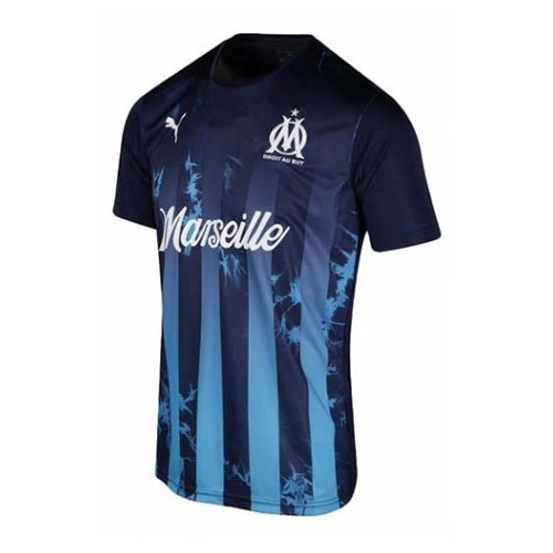 Thailande Maillot Foot Pas Cher Marseille Influence blue