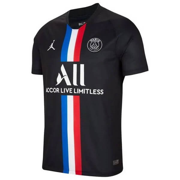 JORDAN Maillot Foot Pas Cher Paris Saint Germain 4ª 2019/2020 Noir