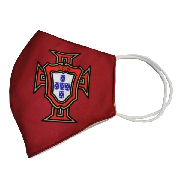 Masque Football Portugal Serviette Rouge