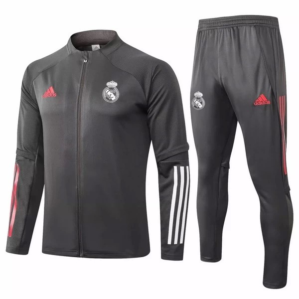 Survetement Foot Pas Cher Real Madrid 2020/2021 Gris Marine