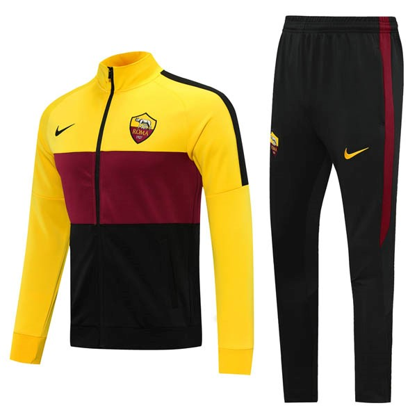 Survetement AS Roma 2020/2021 Jaune Rouge