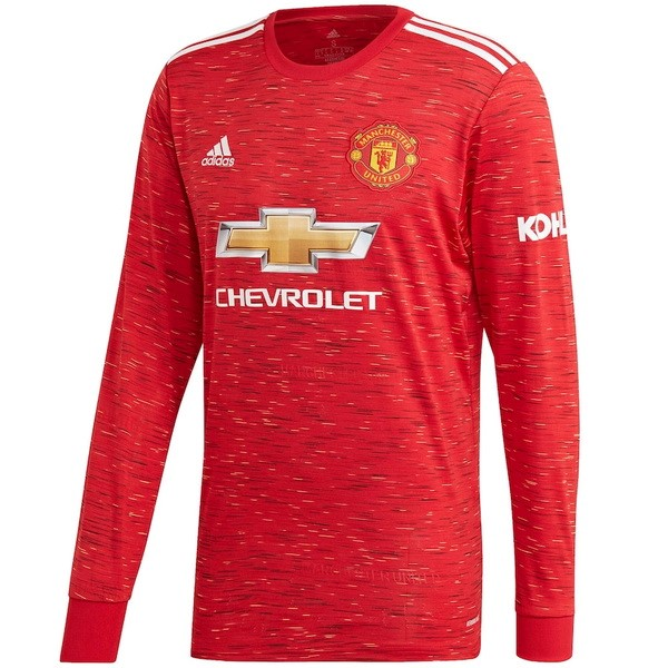 Thailande Maillot Foot Pas Cher Manchester United Domicile ML 2020/2021 Rouge