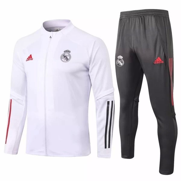 Survetement Real Madrid 2020/2021 Blanc Gris Rouge