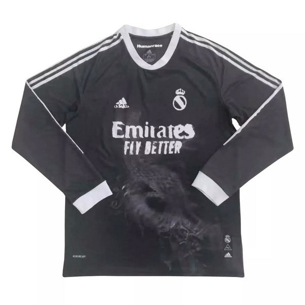 Thailande Maillot Foot Pas Cher Real Madrid Human Race ML 2020/2021 Noir
