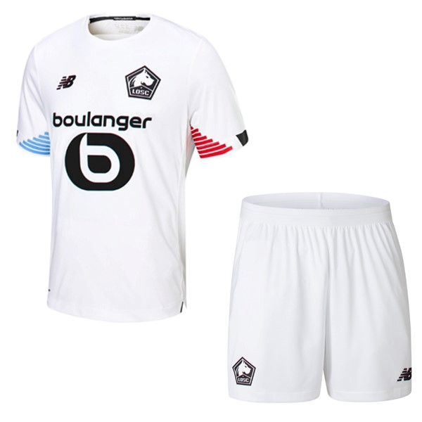 Maillot Foot Pas Cher Lille Third Enfant 2020/2021 Blanc