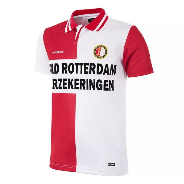 Thailande Maillot Foot Pas Cher Feyenoord Rotterdam Domicile Retro 1995 Rouge Blanc
