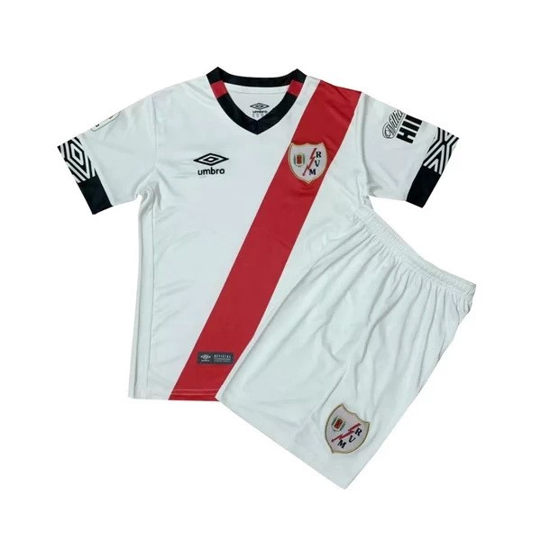 Maillot Foot Pas Cher Rayo Vallecano Domicile Enfant 2020/2021 Blanc