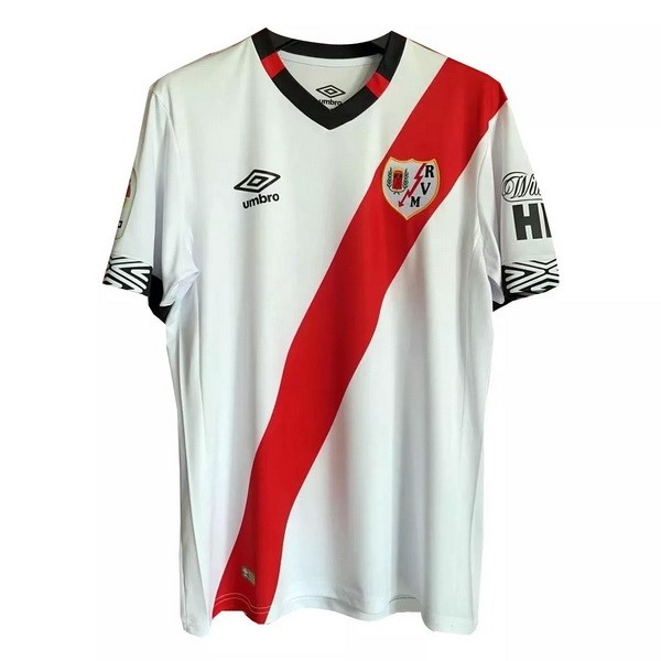 Maillot Foot Pas Cher Rayo Vallecano Domicile 2020/2021 Blanc Rouge
