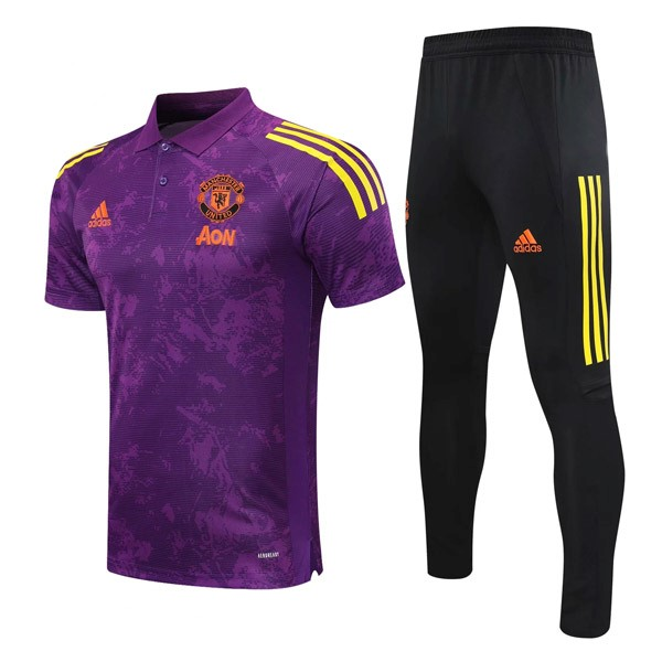 Polo Manchester United Ensemble Complet 2021/2022 Purpura