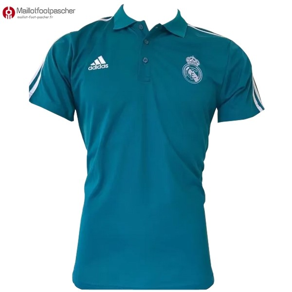 Polo Foot Pas Cher Real Madrid 2017/2018 Blanc Bleu