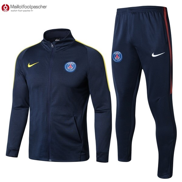 Survetement Foot Pas Cher Paris Saint Germain 2017/2018 Bleu Jaune