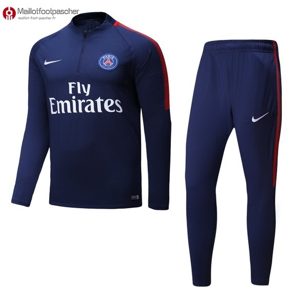 Survetement Foot Pas Cher Paris Saint Germain Enfant 2017/2018 Bleu