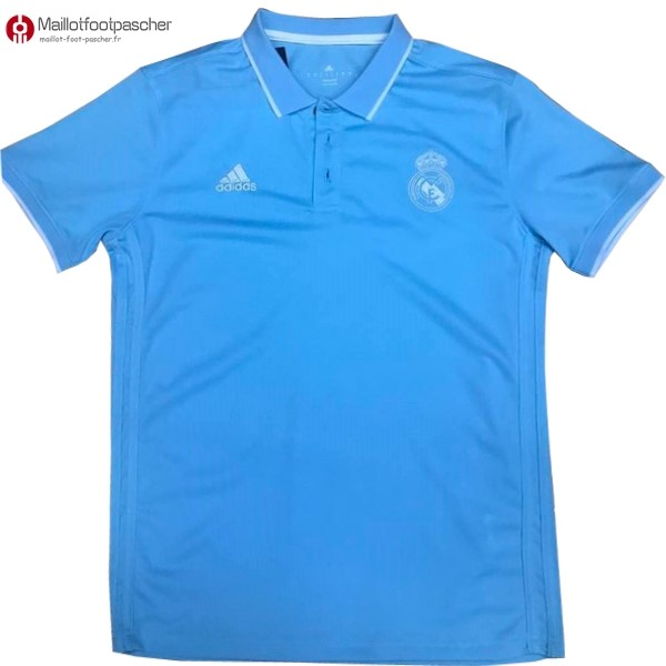 Polo Foot Pas Cher Real Madrid 2017/2018 Bleu
