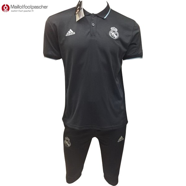 Polo Foot Pas Cher Real Madrid Ensemble Complet 2017/2018 Noir