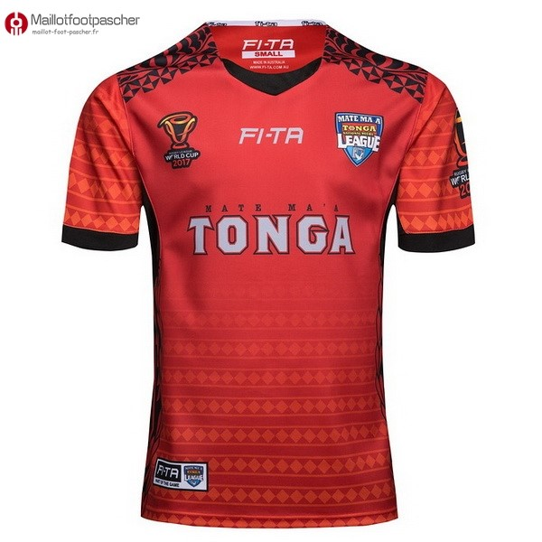 Maillot Rugby Pas Cher Tonga RLWC Domicile 2017/2018 Rouge