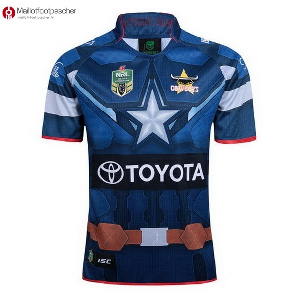 Maillot Rugby Pas Cher Cowboys Bleu 2017/2018