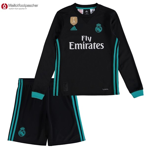 Maillot Foot Pas Cher Real Madrid Exterieur ML Enfant 2017/2018
