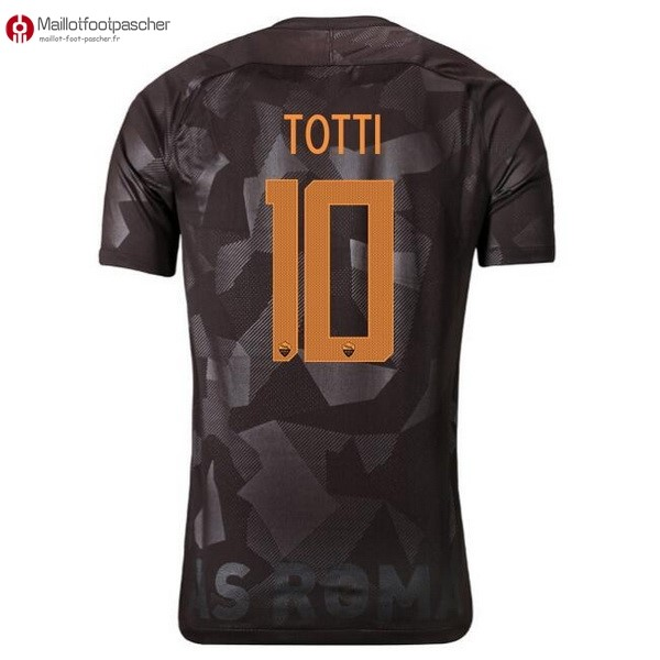 Maillot Foot Pas Cher AS Roma Third Totti 2017/2018
