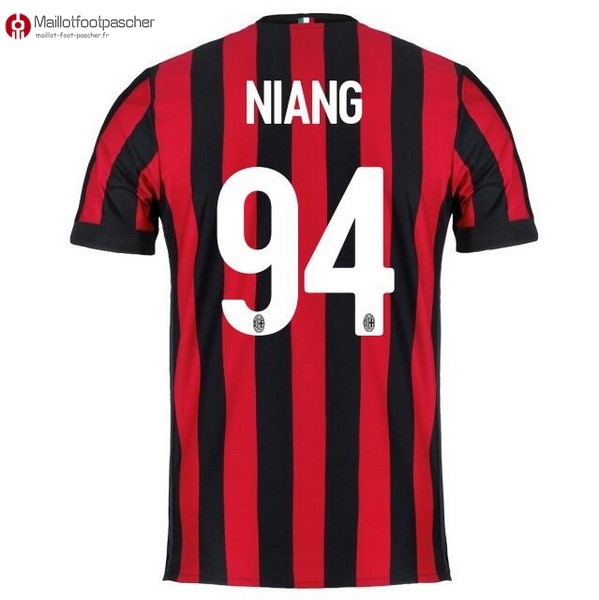 Maillot Foot Pas Cher Milan Domicile Niang 2017/2018