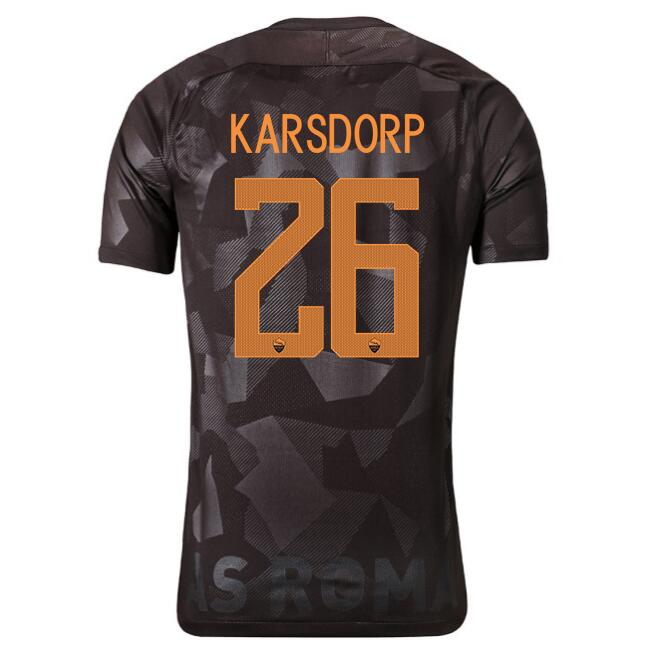 Maillot Foot Pas Cher AS Roma Domicile karsdorp 2017/2018