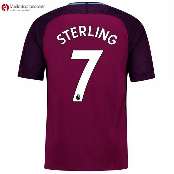Maillot Foot Pas Cher Manchester City Exterieur Sterling 2017/2018