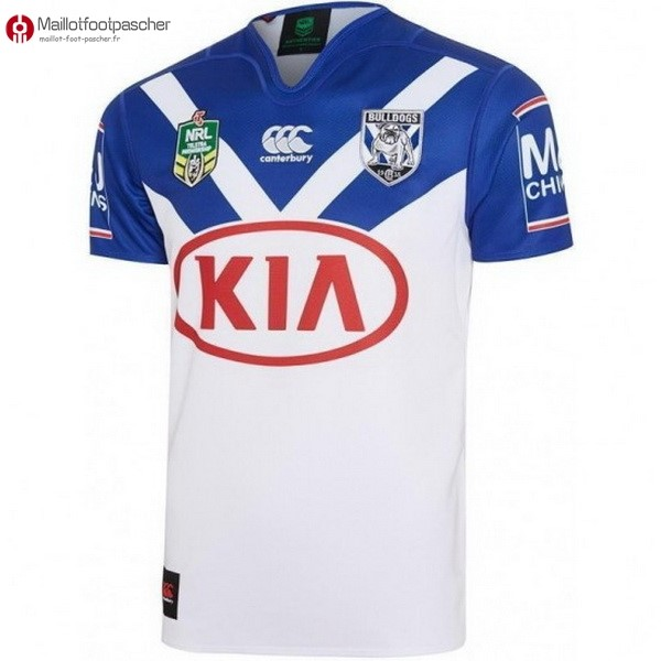 Maillot Rugby Pas Cher Bankstown Bulldogs Domicile 2017/2018 Blanc