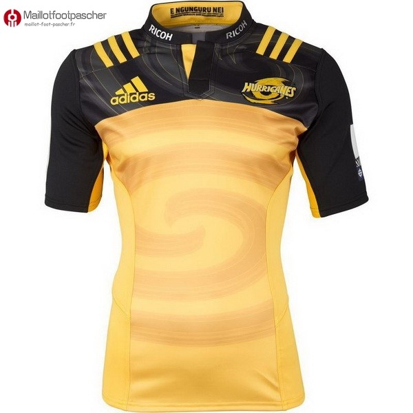 Maillot Rugby Pas Cher Hurricanes Domicile 2017/2018 Jaune