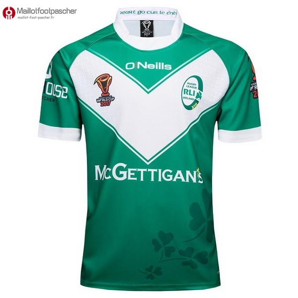 Maillot Rugby Pas Cher Irlande RLWC O'Neills Domicile 2017/2018 Vert